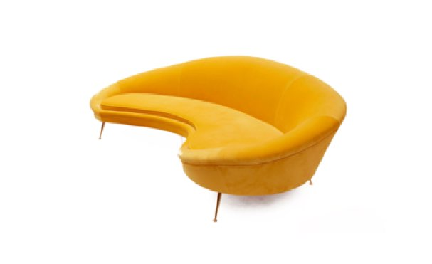 Studio bañon sofá amarillo ava